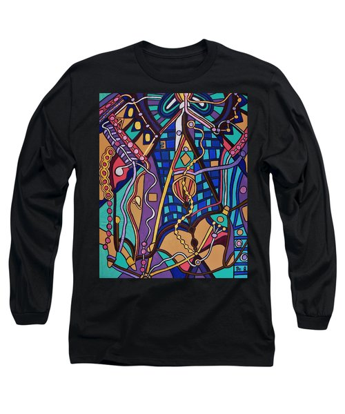 Long Sleeve T-Shirt featuring the painting The Exam by Barbara St Jean