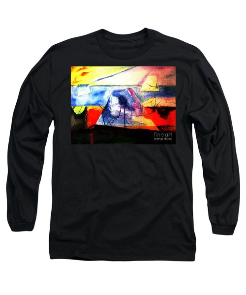 Long Sleeve T-Shirt featuring the painting The Fabric Of My Heart by Hazel Holland