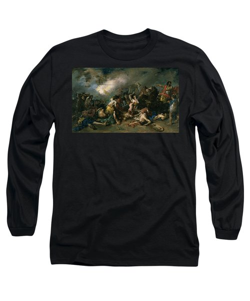 The Final Day Of Sagunto In 219bc, 1869 Oil On Canvas Long Sleeve T-Shirt