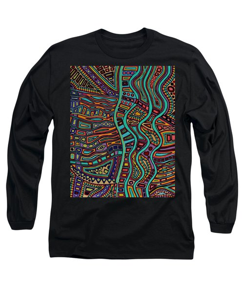 Long Sleeve T-Shirt featuring the painting The Flow by Barbara St Jean