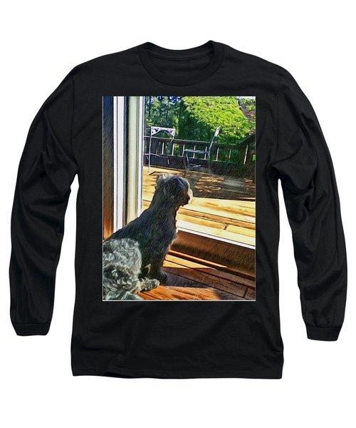 The Fluffy Watcher Long Sleeve T-Shirt