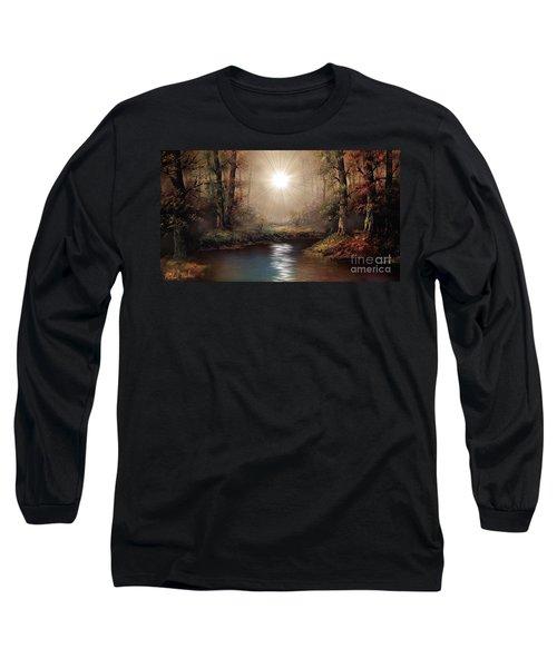 Sunrise Forest  Long Sleeve T-Shirt by Michael Rucker