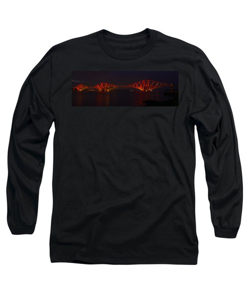 The Forth Bridge By Night Long Sleeve T-Shirt
