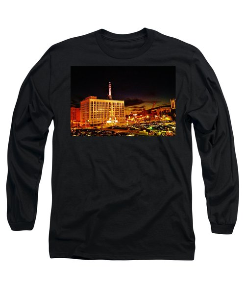 The Fox At Sunset Long Sleeve T-Shirt by Daniel Thompson