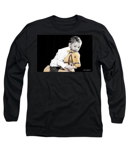 The Golden Horse And The Scary Kid Long Sleeve T-Shirt