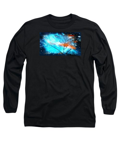 The Blue Grand Leaves Long Sleeve T-Shirt