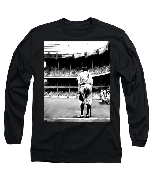 The Greatest Of All  Babe Ruth Long Sleeve T-Shirt by Iconic Images Art Gallery David Pucciarelli