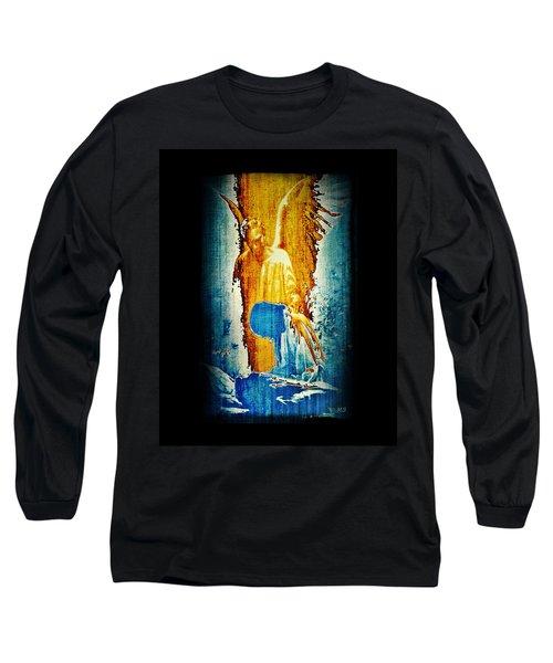The Guardian Angel Long Sleeve T-Shirt by Absinthe Art By Michelle LeAnn Scott