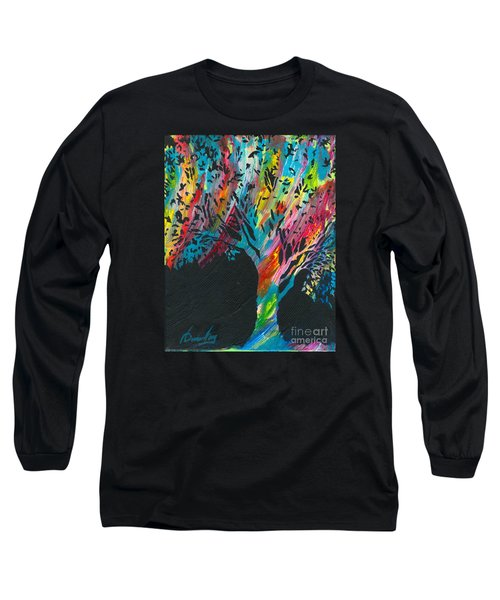 The Happy Tree Long Sleeve T-Shirt by Denise Hoag
