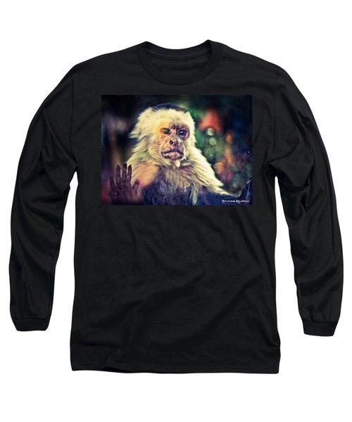 Long Sleeve T-Shirt featuring the photograph The Hopeless Ape by Stwayne Keubrick