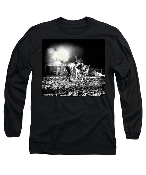 Long Sleeve T-Shirt featuring the photograph The Horse That Suffered  by Stwayne Keubrick
