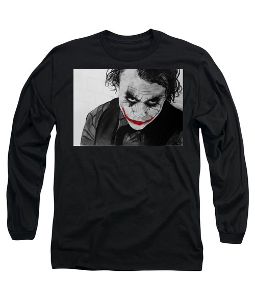 The Joker Long Sleeve T-Shirt by Robert Bateman