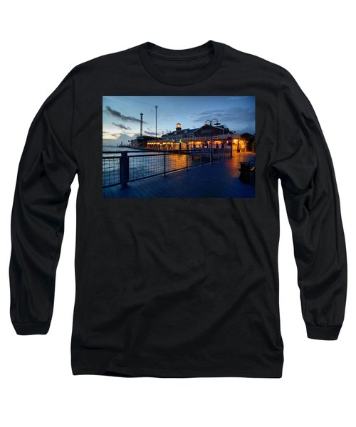 The Kemah Boardwalk Long Sleeve T-Shirt by Linda Unger