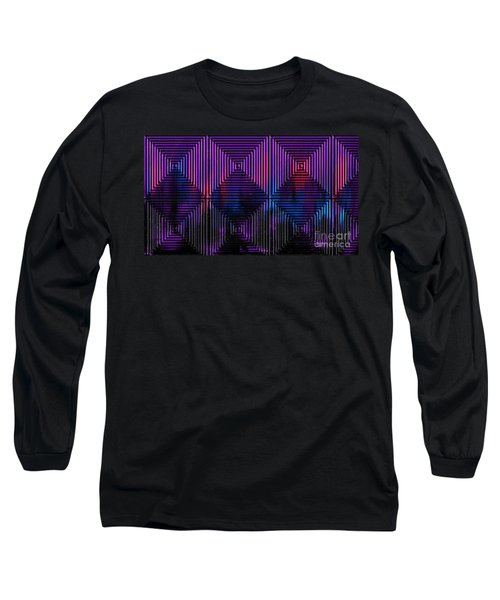 Long Sleeve T-Shirt featuring the painting The Labyrinth by Roz Abellera Art