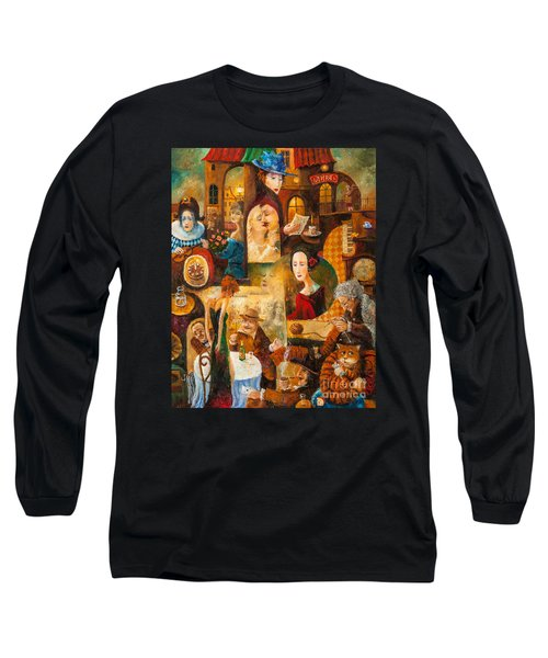 Long Sleeve T-Shirt featuring the painting The Letter by Igor Postash