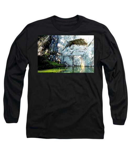 The Lion Monument In Lucerne Switzerland Long Sleeve T-Shirt