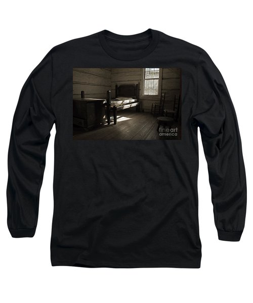 Long Sleeve T-Shirt featuring the photograph The Log Cabin C.1785 by Robert Meanor