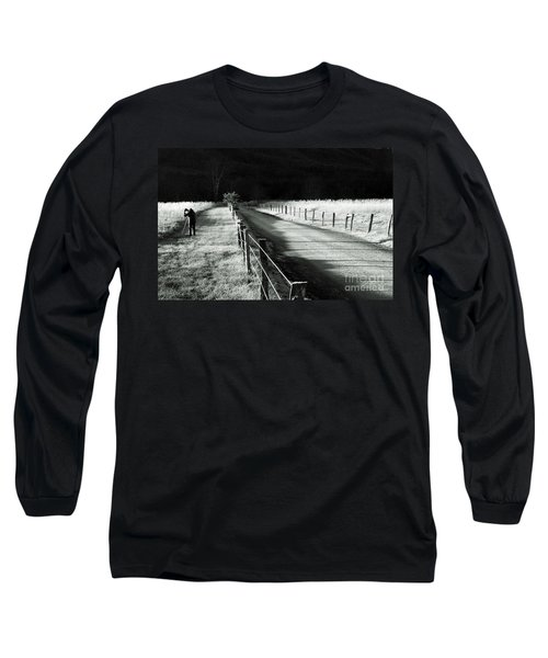 The Lone Photographer Long Sleeve T-Shirt by Douglas Stucky