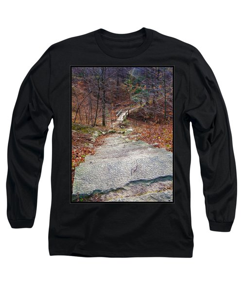 The Long Lonely Trail... Long Sleeve T-Shirt by Tim Fillingim