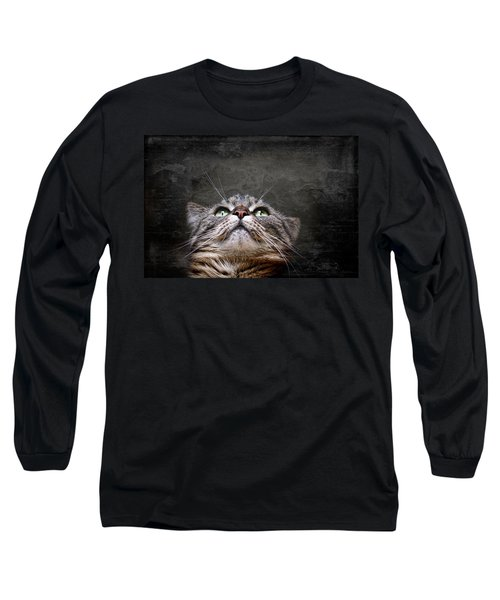 Long Sleeve T-Shirt featuring the photograph The Look by Annie Snel