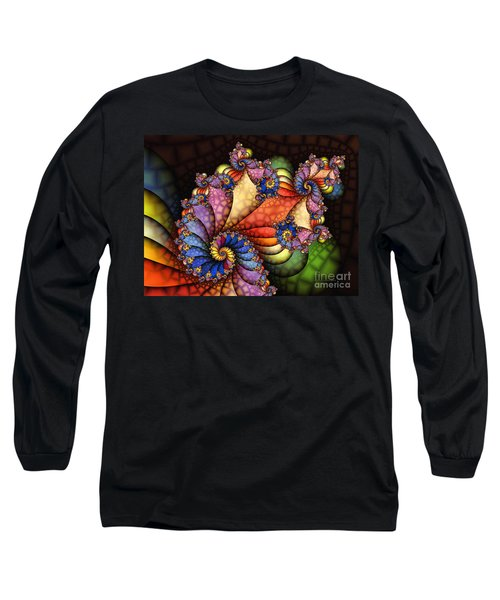 The Maharajahs New Hat-fractal Art Long Sleeve T-Shirt