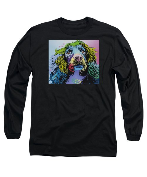 Long Sleeve T-Shirt featuring the painting The Master Of Game by Luis Ludzska