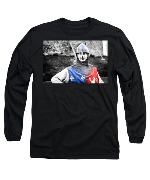 Long Sleeve T-Shirt featuring the photograph The Medieval Warrior by Stwayne Keubrick
