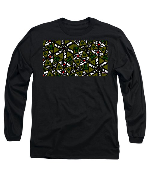 Long Sleeve T-Shirt featuring the digital art The Mess Behind It by Elizabeth McTaggart