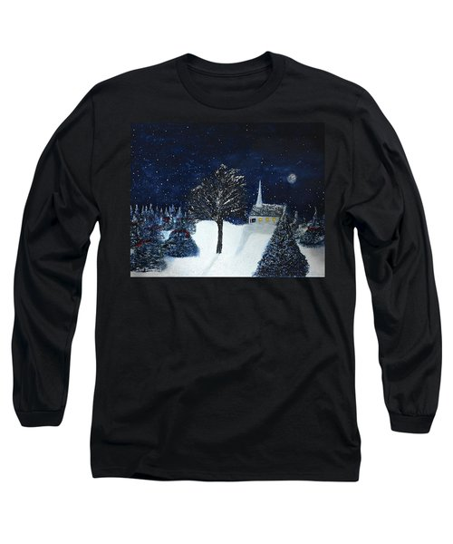 The Night Before Christmas Long Sleeve T-Shirt by Dick Bourgault