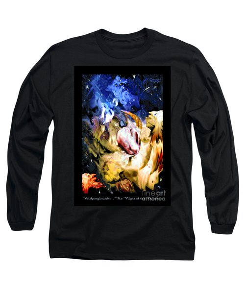 The Night Of The Witches . Poster Style Long Sleeve T-Shirt