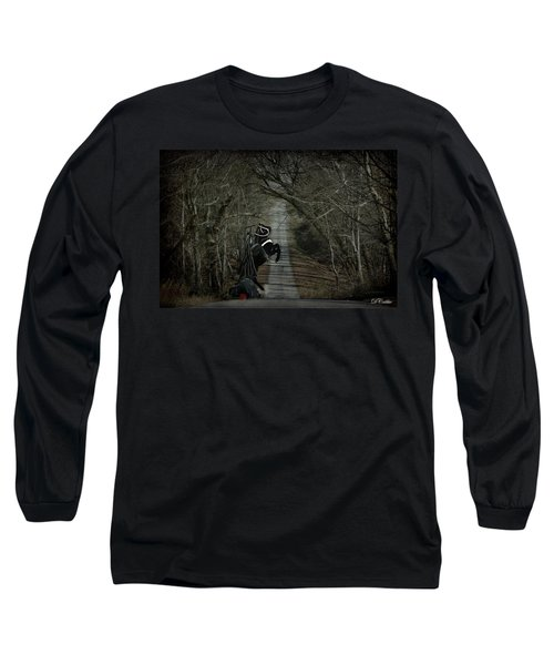 Long Sleeve T-Shirt featuring the digital art The Nightmare by Davandra Cribbie