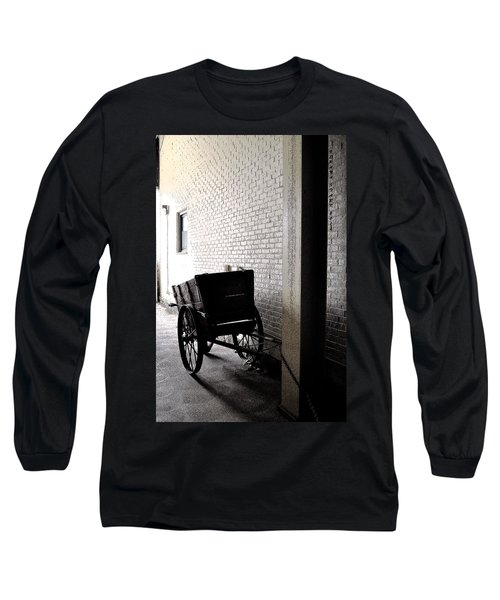 Long Sleeve T-Shirt featuring the photograph The Old Cart From The Series View Of An Old Railroad by Verana Stark