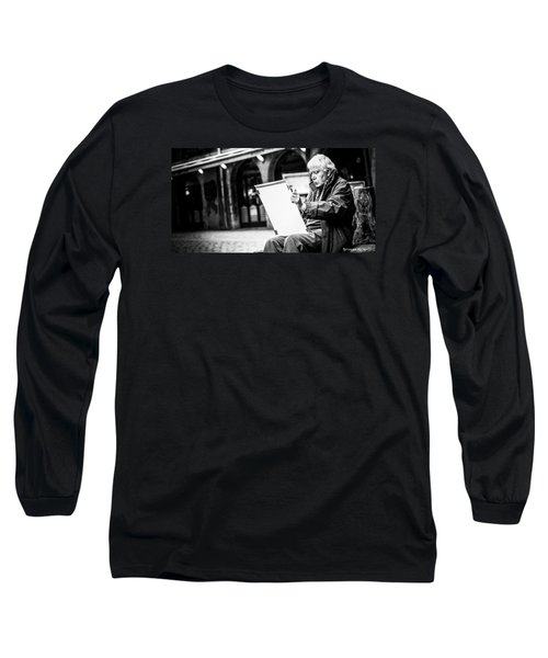 Long Sleeve T-Shirt featuring the photograph The Old Man Painter II by Stwayne Keubrick