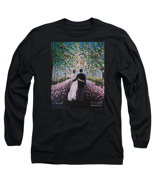 Long Sleeve T-Shirt featuring the painting The Path Of Love  by Vesna Martinjak