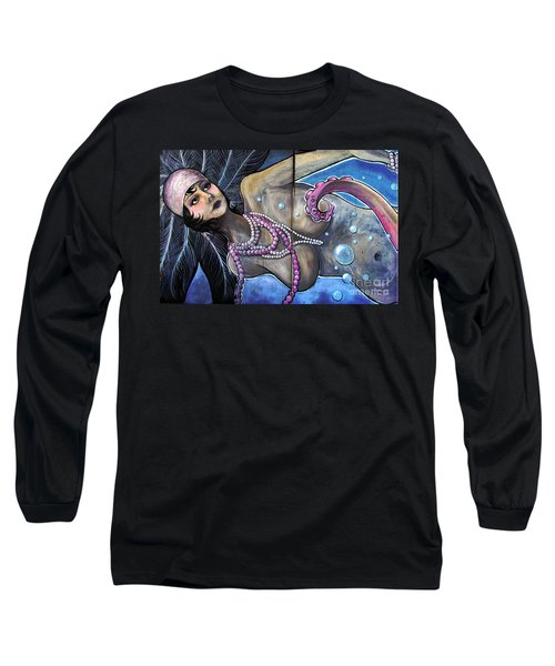 The Pearl Mermaid Long Sleeve T-Shirt by Colleen Kammerer