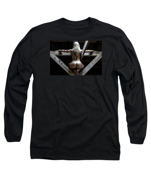 Long Sleeve T-Shirt featuring the photograph The Perch by Mez