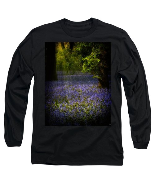 Long Sleeve T-Shirt featuring the photograph The Pixie's Bluebell Patch by Chris Lord