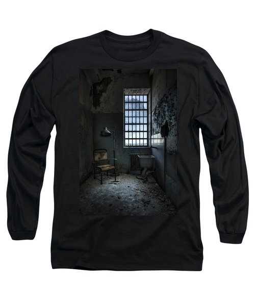 Long Sleeve T-Shirt featuring the photograph The Private Room - Abandoned Asylum by Gary Heller
