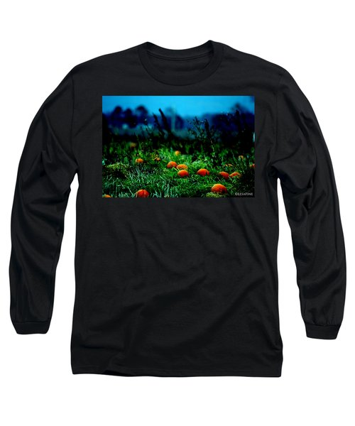 Long Sleeve T-Shirt featuring the photograph The Pumpkin Patch by Lesa Fine