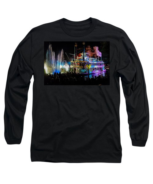 The Mark Twain Disneyland Steamboat  Long Sleeve T-Shirt