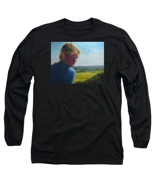 The Question Of A Minor Summit Long Sleeve T-Shirt by Connie Schaertl