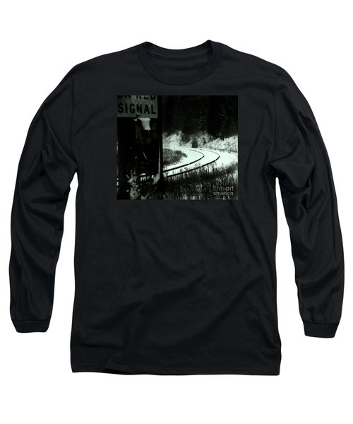The Rail To Anywhere Long Sleeve T-Shirt by Linda Shafer