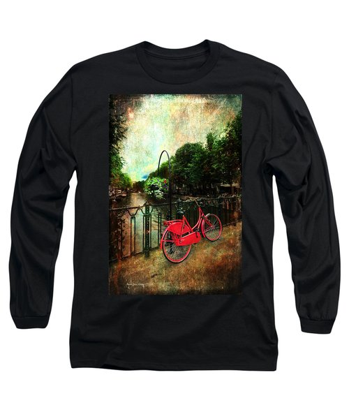 The Red Bicycle Long Sleeve T-Shirt by Randi Grace Nilsberg