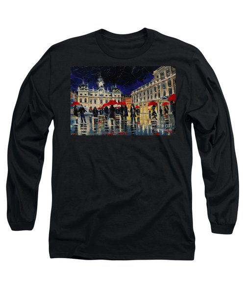 The Rendezvous Of Terreaux Square In Lyon Long Sleeve T-Shirt