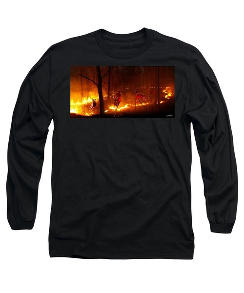 The Ring Of Fire Long Sleeve T-Shirt by Bill Stephens