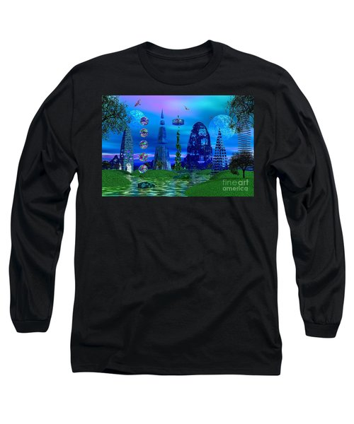 The River Quinque Long Sleeve T-Shirt by Mark Blauhoefer