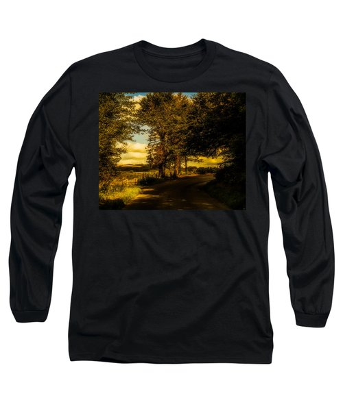 Long Sleeve T-Shirt featuring the photograph The Road To Litlington by Chris Lord