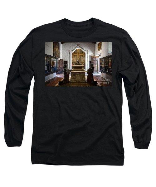 The Serra Cenotaph In Carmel Mission Long Sleeve T-Shirt