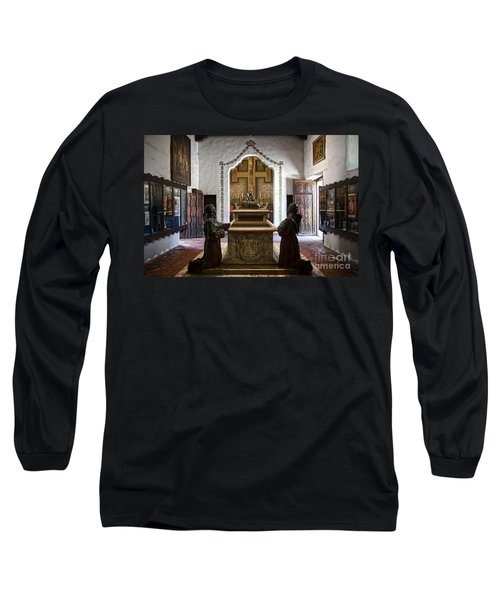 The Serra Cenotaph In Carmel Mission Long Sleeve T-Shirt