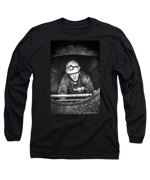 Long Sleeve T-Shirt featuring the photograph The Sewer Guy by Stwayne Keubrick